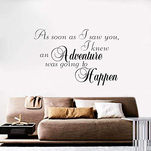 Muursticker zo snel als ik zag je Art Decal slaapkamer PVC muursticker 65 Cm*43 Cm