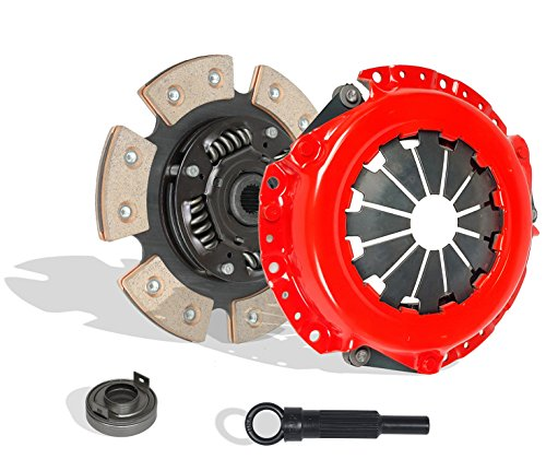 Clutch Kit Works With Mitsubishi Hyundai Plymouth Eagle Dodge LS Es De Dl Base 1987-2002 1.8L l4 GAS SOHC Naturally Aspirated (6-Puck Disc Stage 3; Flywheel Spec: Flat; From 12/86; Hydraulic Linkage) Eagle Talon Spec Clutch