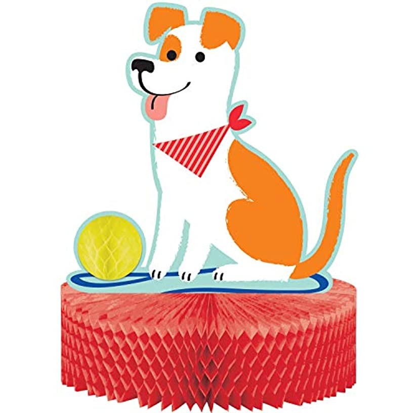 Creative Converting 336661 Dog Party Centerpiece, 9x9x12inc, Multicolor