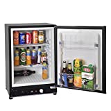 SMETA 3 Way Fridge Propane Refrigerator without Freezer Gas/12V/110V for RV Truck Camping Off Grid Fridge 2.1 Cu.Ft, Black