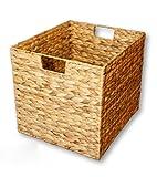 KMH, Grosse Korb-Box aus geflochtener Wasserhyazinthe (#204044)