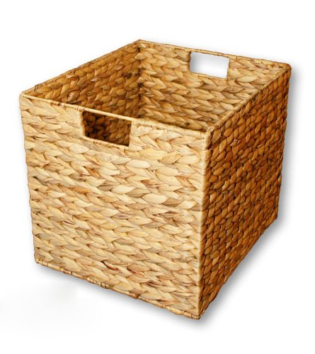 KMH®, Grosse Korb-Box aus geflochtener Wasserhyazinthe (#204044)