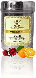 Khadi Natural Rose & Orange Face Pack - 50g