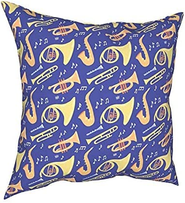 Pillow Covers 20X20 Trombone Trumpet Square Saxophone Super Ranking TOP11 sale Throw Pill