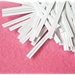 """Easytle 5"""" Paper White Twist Ties 100 Pcs 9 ★MULTIPLE USES 5"""" long, 0.16"""" wide, 1000 pieces. This is the preferred size for many uses including crafts, cords, cables, gardening plants and much more. Zip bags for bread, baked goods, storage, packing, garbage and trash. ★HIGH QUALITY these are ultra durable with an inner metal wire core. They hold up well for heavy duty use, home, business, industry and much more. These will last for years and can be reused many times. ★1000 PIECE SET to give you all the twist ties you need for every application. They store compactly and are there for you every time you need a top quality twist ties to organize and maintain cords, wires, possessions, deserts, snacks, and an endless array of uses."""