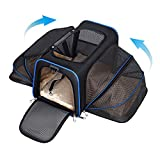YOUTHINK Expandable Pet Carrier for Dogs and Cats, Soft Sided&Most Airline Approved, Perfect Cat Carrier with Removable Fleece Mat Max for 22lbs Pets