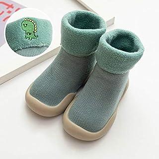 Xingxing, xingxing Calcetines para bebé, color amarillo, para niña, antideslizante, suela de goma, para invierno, calentadores de piernas para bebés (edad de bebé: 6 a 12 meses, color: 3)