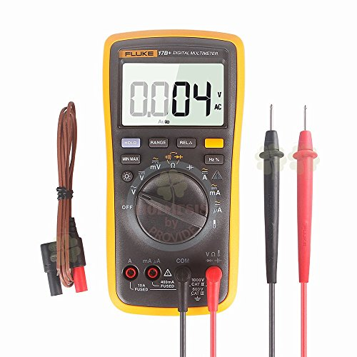 FLUKE 17B+ Digital Multimeter w/ Temperature & Frequency (CARRYING CASE INCLUDED)