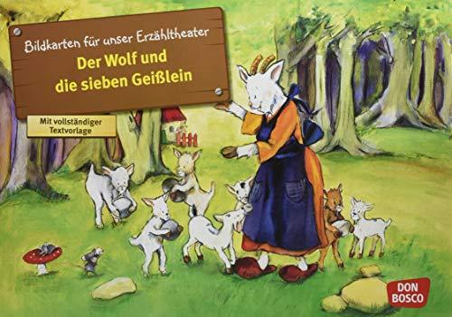Kamishibai Bildkartenset Der Wolf und die 7 Geißlein - Bildkarten für unser Erzähltheater (Märchen für unser Erzähltheater)
