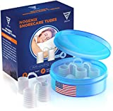 Zircon Set of 4 Nose Vents to Ease Breathing - Anti Snoring - No Side Effects - Advanced Design - Reusable - Includes Travel Case