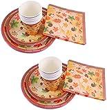 Set per Feste di Thanksgiving BESTZY 68PCS Articoli per Feste di Ringraziamento Party Kit per Ringraziamento Forniture per la Decorazione di Festa di Natale