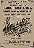Vintage Reise Uganda mit Uganda Eisenbahn C1800Kunst der