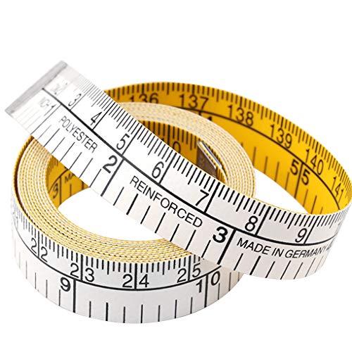 PRENKIN 1,5M Doble Escala Suave Cinta métrica Flexible escalímetro Doble Pérdida Cinta de Peso Corporal de Costura a Medida de Tela Regla ✅