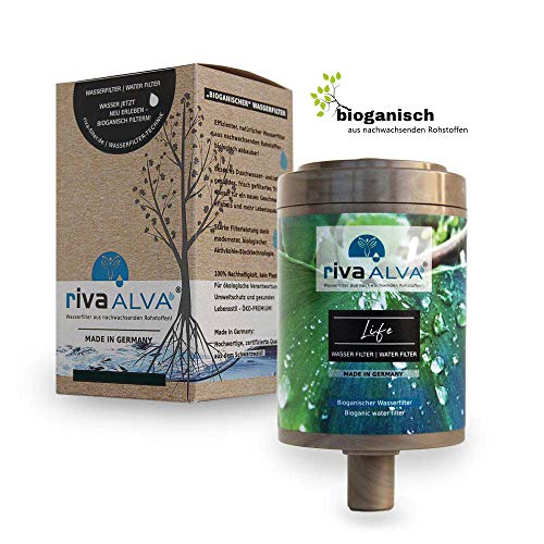 rivaALVA Life Trinkwasserfilter Ersatzkartusche Wasserfilter Kartusche für Küche, Plastikfrei, 100% biologisch