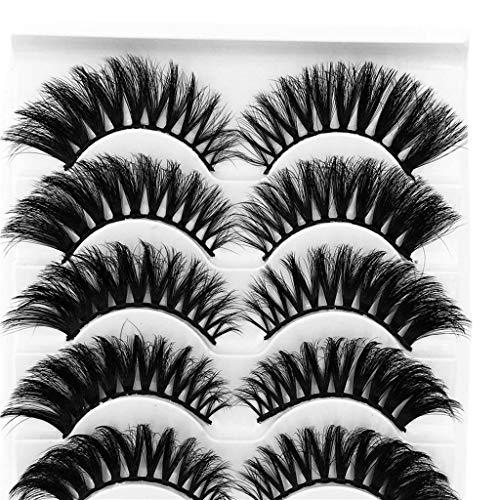 Damen falsche Wimpern 5 Paar 3D Wimpernimitat Nerz natürliche dicke beauty Make-up-Unter 5 Euro wimpernserum wimpernkleber wimperntusche wimpernzange