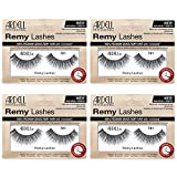 Ardell Remy Lash 781, 100% Premium Grade Remy Hair False Lashes with Invisiband, 4 pairs