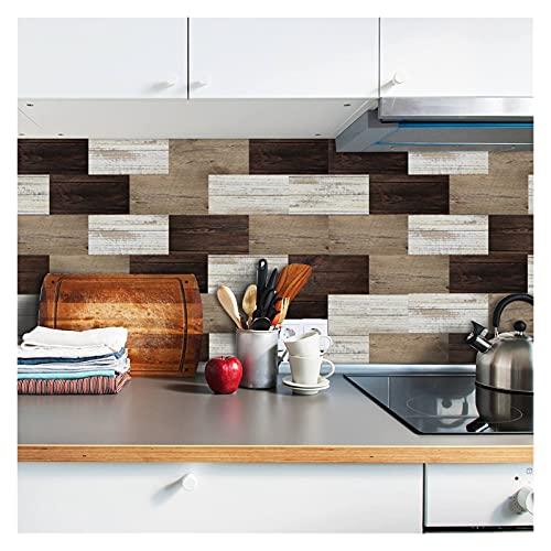 ESORST 20x10cm Etiqueta de la Pared DIY Decorativo Económico ecológico PVC Pegatinas de Azulejos para baño Cocina Piso de Pared (Color : 28, Size : 10x20cmx9pcs)