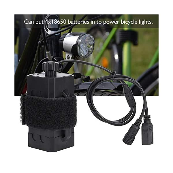 Electric Bikes Alomejor 18650 Waterproof Batteries Holder Storage Box House Cover 8.4V USB/DC Double Interface for use with Bicycle Bike Lamp LEDs and other electronic digital products