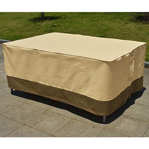 YMYP08 Heavy Duty Möbelbezüge, Tisch und Stuhl-Staubschutz, 600D Oxford Gartenmöbel Abdeckungen, Sonnenschutz/Wasserdicht/Staubdicht (Color : Section B, Size : 108x82x23in)