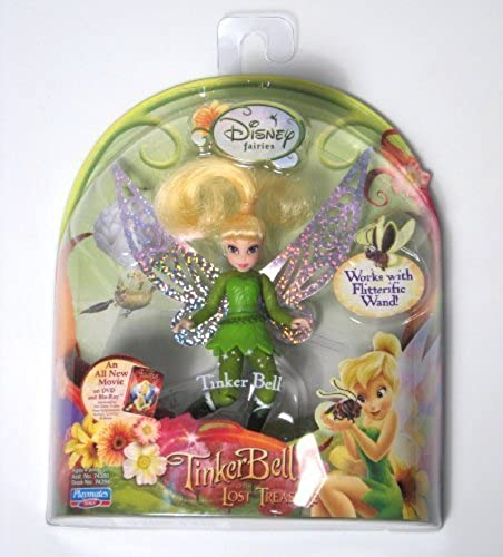 Disney Fairies 3.5 Tinker Bell and the Lost Treasure Doll Works with Flitterific Wand-Tinkerbell by Disney