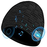 HIGHEVER Bluetooth Beanie Hat,Winter Music Hat with Double Knitted Built-in Stereo Speaker