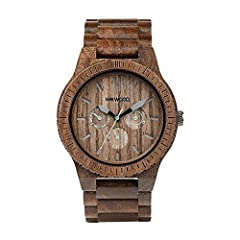 100% Natural Wood Hypo-allergenic& Completely free of toxic chemicals Premium Multi-function Miyota movement Hardened scratch-proof mineral glass Adjustable to fit most any wrist