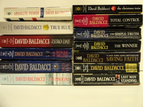 David Baldacci 13 Book Set: The Simple Truth, the Winner, Saving Faith, Wish You Well, Total Control, Absolute Power, True Blue, Zero Day, Deliver Us From Evil, Last Man Standing, the Whole, Truth the Innocent, the Christmas Train,