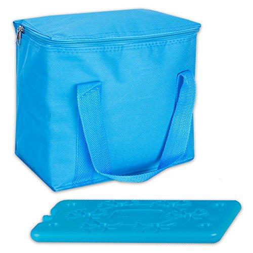 7 L Glacière Sac Isotherme Glacière Cool Butler avec 1 batterie de refroidissement en 3 couleurs 22 cm x 24 cm x 16 cm bleu