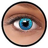 Farbige Kontaktlinsen blau Engel + Behälter, weich, ohne Stärke in als 2er Pack (1 Paar)- angenehm...