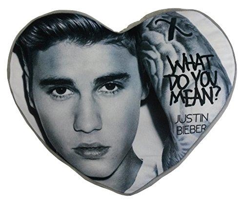 Justin Bieber Kissen, Plüsch Herzform Multi
