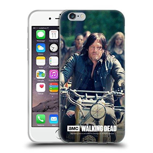 Oficial AMC The Walking Dead Paseo En Bicicleta Daryl Dixon Carcasa de Gel de Silicona Compatible con Apple iPhone 6 / iPhone 6s