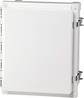 14 Length 12 Width 7 Height Fibox Enclosures AR14127CHSSL UL Listed Nema 4X Polycarbonate Enclosure with Hinged Opaque Screw Cover and Stainless Steel Lockable Latch