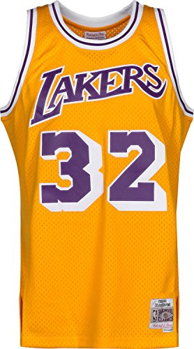 Mitchell & Ness Magic Johnson #32 Los Angeles Lakers 1984-85 Swingman NBA Trikot Gelb, XL