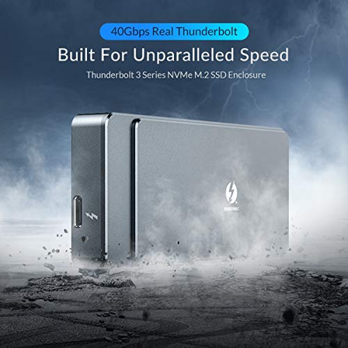 HWENJ M.2 NVME SSD Enclosure Thunderbolt 3 40Gbps SSD Case Support ...