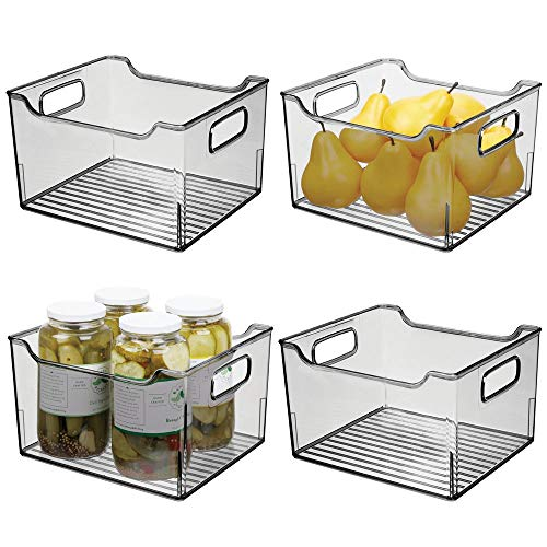MDesign Juego 4 cajas nevera asas – Organizador