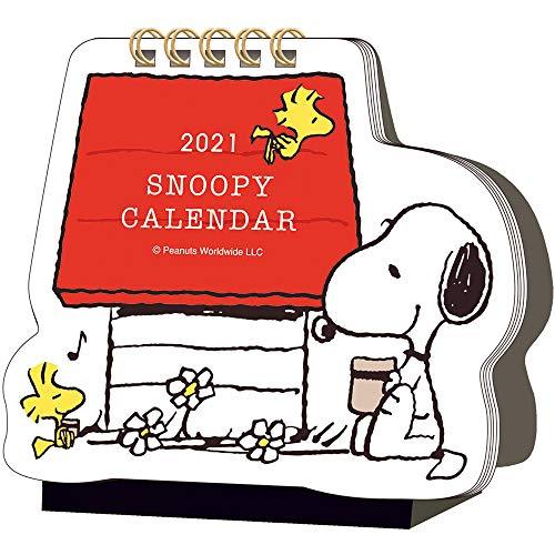 2021年 PEANUTS(スヌーピー)ダイカット卓上カレンダー/ドッグハウス 1000116061 vol.203