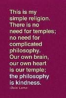 ERZAN1000ピース ジグソーパズルダライラマこれは私の単純な宗教です哲学は優しさです完成サイズ70×50cm
