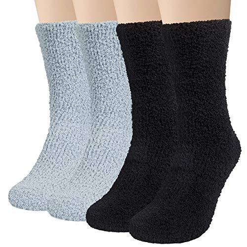 4 Paar Kuschelsocken Herren Bettsocken Kuschel Flauschig Weiche Socken Haussocken Warme Dicke Business Herren Socken 42-47(EU) MEHRWEG
