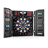 OneConcept Masterdarter - Automatic Darts, Electronic Target, PC Game, 38 Games, 211 Variants, Up to 16 Players, LED Display, 12 Soft Tip Darts, Argente