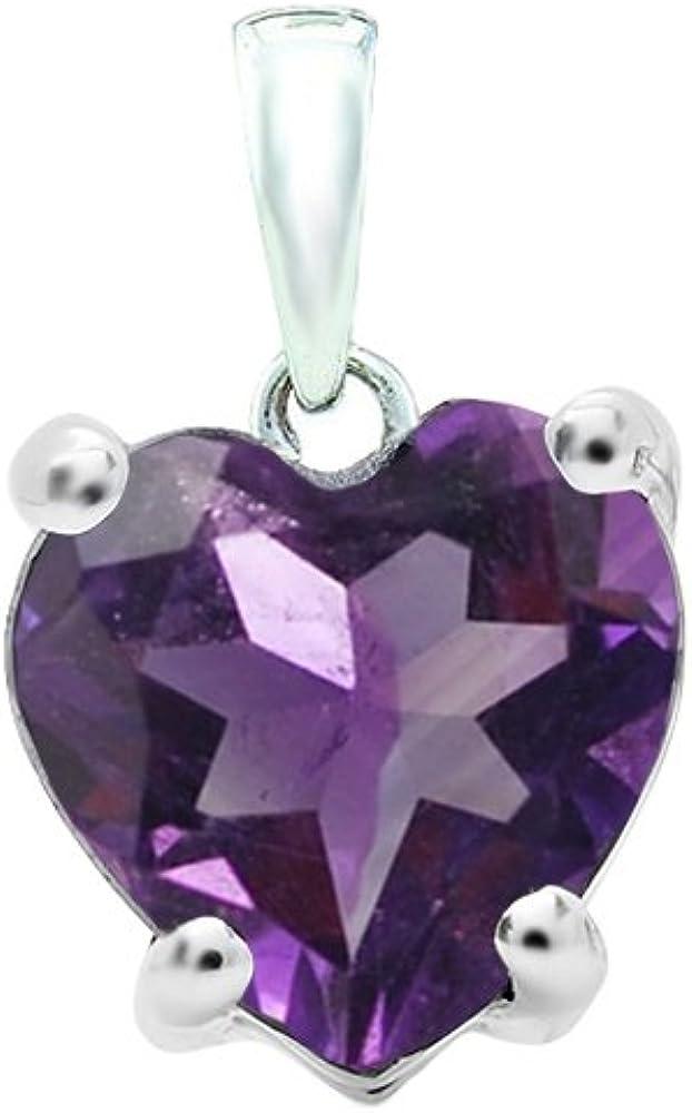 Dazzlingrock Collection 6 mm Ladies 出群 商品追加値下げ在庫復活 Chain Heart Pendant Shaped