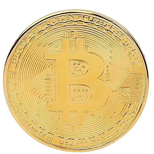 PIVOT Bitcoin Münze, 1 Stück Physische Bitcoins Sammlerstückchen Münzlegierung BTC Bitcoin Art Craft Gedenkmünze mit Vitrine zum Zimmer Büro Dekor Dad Freund-Liebhaber-Geschenk Bitcoin Fans