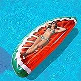 LUXMAX Divertida Drenaje de la sandía en la Fila Inflable Semi-círculo Drenaje de la sandía en la Hamaca Watermelon Fila 180 * 85cm 1.0kg Flotadores de la Piscina