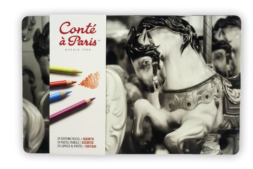 Conte a Paris - Lápices pastel (24 unidades), varios colores