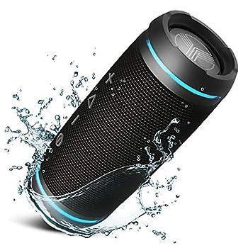 TREBLAB HD77 Portable Bluetooth Speaker - Loud 360° HD Surround Sound Wireless Dual Pairing 25W Powerful Bass 20H Battery Best for Outdoor Sports - True IPX6 Waterproof  Renewed