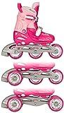 Nijdam 52QP _FRZ - Chaussures Ajustables pour Enfants, Fuchsia / Rose / Argent, Taille 30-33