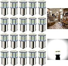 Antline 1156 1141 1003 7506 BA15S LED Bulbs White 20-Packs, Super Bright 3014 50-SMD LED Replacement for 12 Volt RV Camper Trailer Boat Trunk Interior Lights