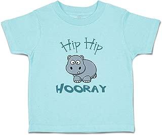 Custom Baby & Toddler T-Shirt Baby Hippo Hippopotamus Hip Hooray White Cotton