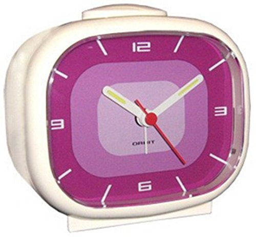 Orbit Lounge Kultiger 70er Jahre Retro Wecker Apollo (White/Purple)