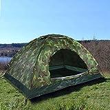 OKMIJN 2-Personen-Zelt, UV-Schutz im Freien Wasserbeständiges Kuppelzelt mit Tragetasche, für...