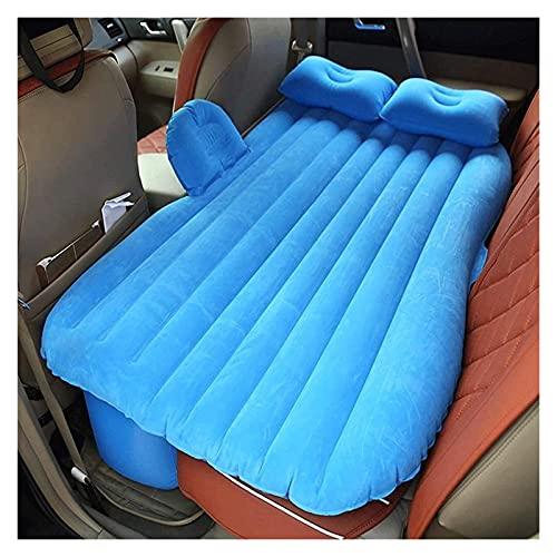 Coche multifuncional de servicio SUV Cojín de asiento trasero de la cama de colchón de aire inflable con 2 almohadas y bomba for el viaje Camping Playa Resto Tour Viaje de viaje Picnic Autoinflable
